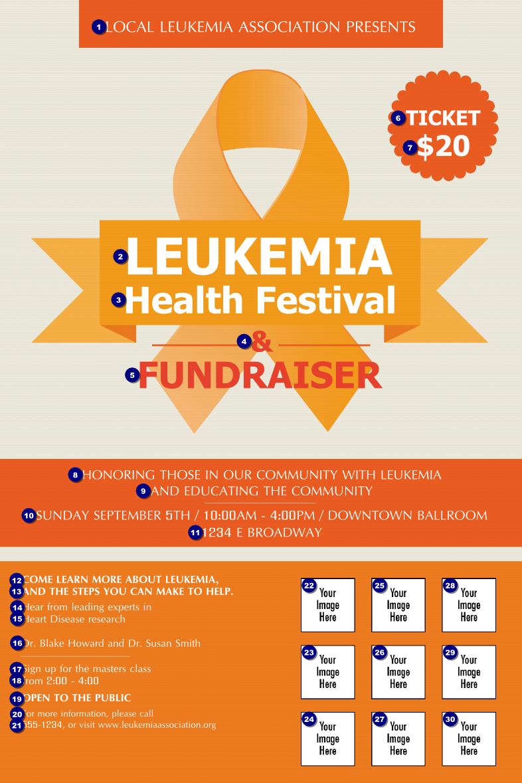 leukemia logo poster