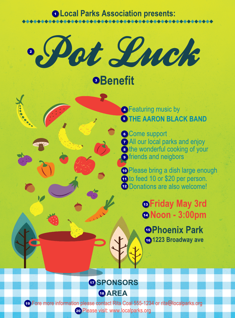 ... Potluck Flyer Template By Potluck Benefit Logo Flyer Ticket Printing ...