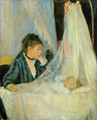 Berthe Morisot as art for a plasma.