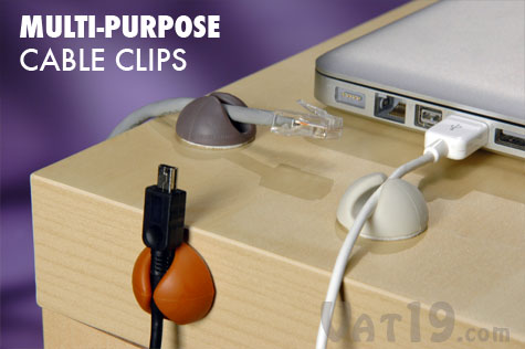 Keep Your Cables Organized With The Cabledrop Computer Cable Organizer