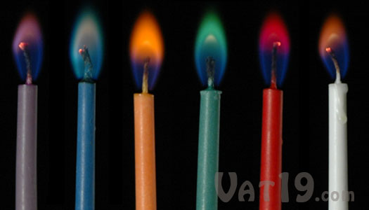 color flame party candles twelve birthday candles with