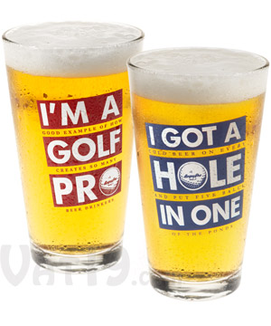 Golf Beer Pints