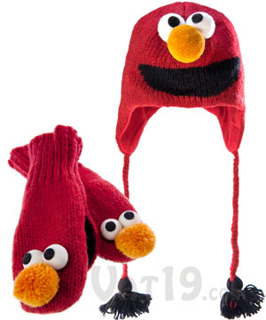 Sesame Street Hats and Mittens - Adult