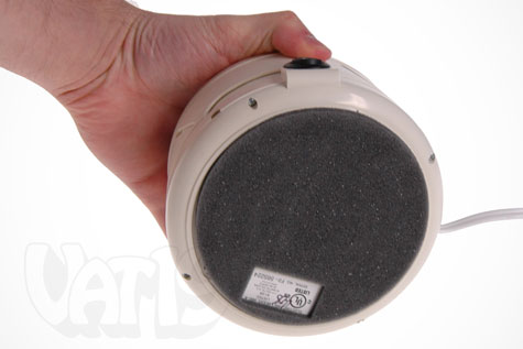 The SleepMate White Noise Machine has a felt bottom to protect your furniture from scratches.