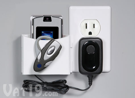The Socket Pocket Cell Phone Charger Holder keeps your phone and its cable organized.