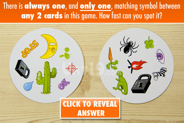 Spot It is a fun and fast-paced matching game.