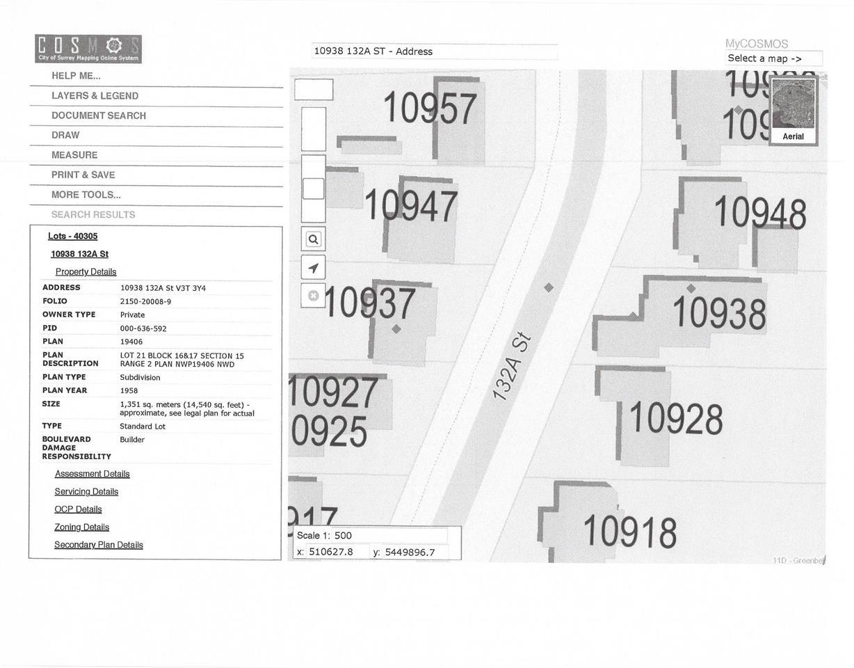 10938 132A STREET - MLS® # R2342695