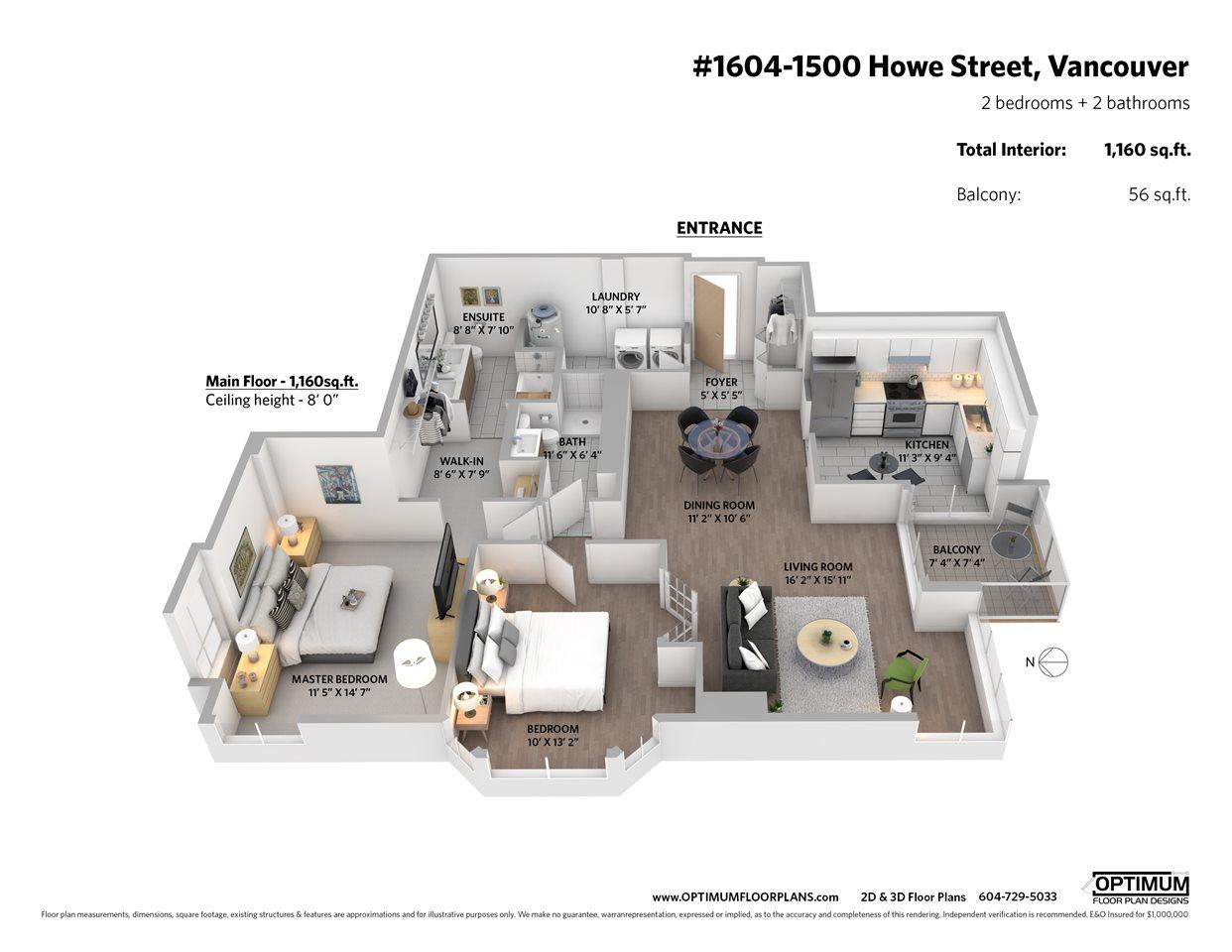1604 1500 HOWE STREET - MLS® # R2419631