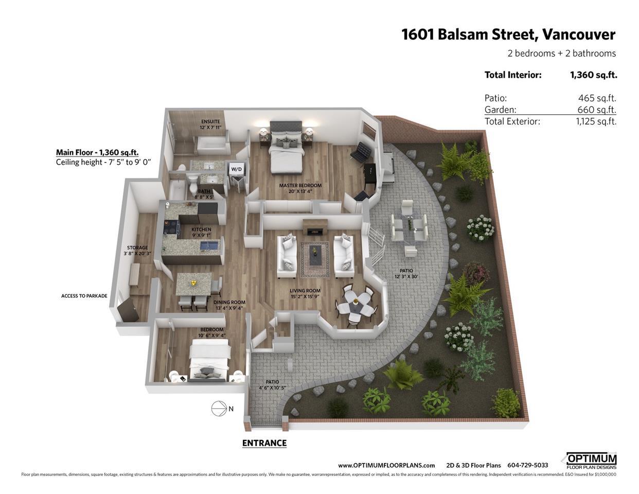 1601 BALSAM STREET - MLS® # R2422362