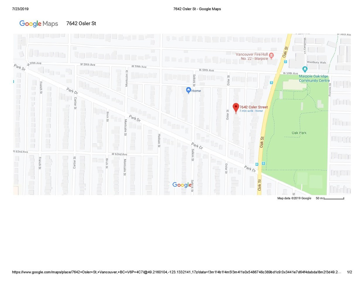 7642 OSLER STREET - MLS® # R2430753
