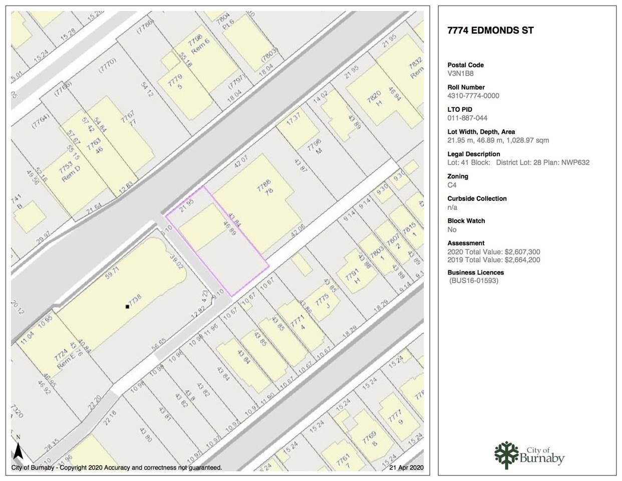 7774 EDMONDS STREET - MLS® # R2451558