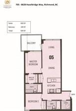 705 8628 HAZELBRIDGE WAY - MLS® # R2455934