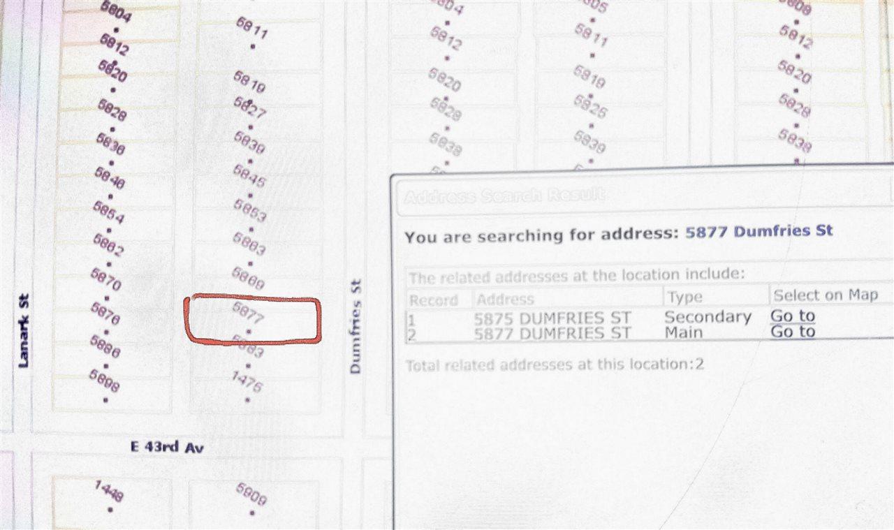 5877 DUMFRIES STREET - MLS® # R2485086