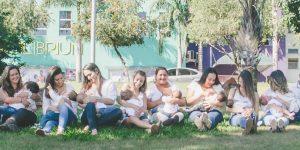 Fotógrafa cria ensaio sobre amamentação em Holambra