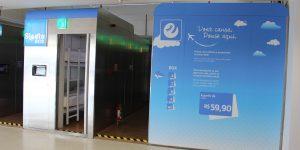 Aeroporto internacional de Campinas inaugura cabines de curta estadia