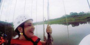 Moradora de Artur Nogueira participa de recorde mundial de pêndulo humano