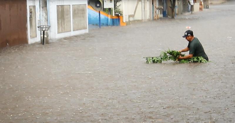 Chuva volta a causar alagamento no São Vicente