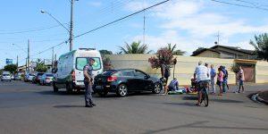 Motociclista tem perna fraturada em acidente de trânsito em Artur Nogueira