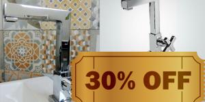ENCERRADO: Torneira sofisticada para lavatório com 30% de desconto