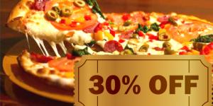 ENCERRADO: Compre pizza com 30% de desconto em Artur Nogueira