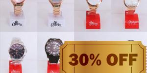 ENCERRADO: relógios Condor e Allora na Mix Biju Artur Nogueira com 30% de desconto