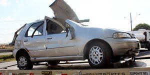 Idoso capota carro em rodovia de Artur Nogueira