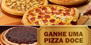 ENCERRADO: Compre uma pizza grande e ganhe uma doce pequena