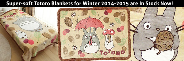 Totoro Blankets Now in stock!