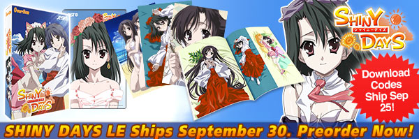 Shiny Days ships September 28! Please understand!