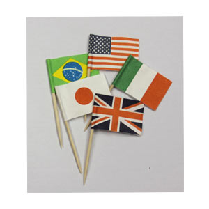 Deco World Flag Picks for Lunch 