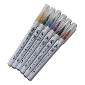 KURETAKE ZIG Real Brush Art Fude Pen Set of 6 Colors