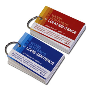 DX Wide Study Flashcards for Long Sentence ~ Set of 2 pcs 