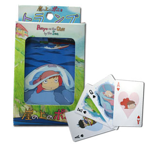Ponyo on the Cliff by the Sea Playing Cards