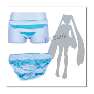 Stripe Panty -- Shimapan Light Blue ~ size M