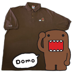 Domo-kun Greeting - Brown (Polo Shirt)