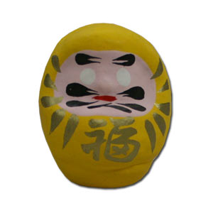 Super Desktop Hariko Daruma -- Yellow