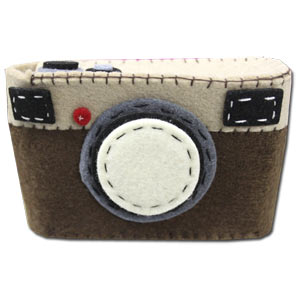 Felt Camera Case ~ Brown