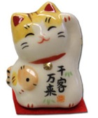 SENKYAKU-BANRAI   TORA Lucky Cat Happy Message Mini Display 