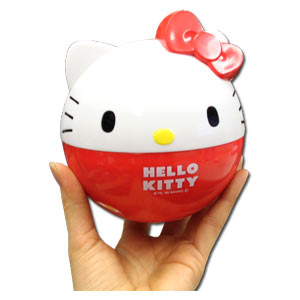 Hello Kitty Ball Shaped 2 Tier Bento Box with Kinchaku Bag