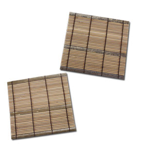 Traditional Bamboo Coaster ~ 2pcs