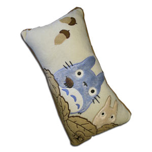 Totoro Nap Pillow  40cm x 22cm Oak -- Brown
