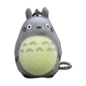Grey Totoro Fuzzy Key Chain