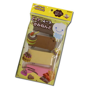 Mousse-chan Fuwa-Fuwa Paper Clay Refill ~ 4 Chocolate Color