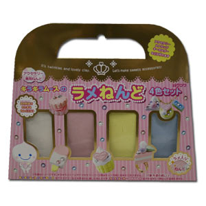 Mousse-chan Kira-Kira Paper Clay Refill ~ 4 Twinkle Pastel Colors