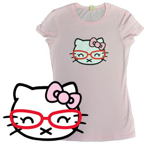 Hipster Kitty (Women's Fitted)
