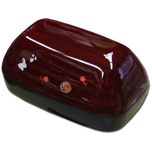 Built-in 2 Tier Onigiri Style Bento Box ~ Genuine Lacquered