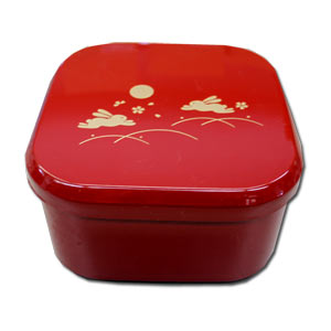 Rabbit Red Square Jubako Container