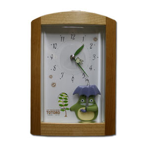Totoro Alarm Clock -- w/ Umbrella