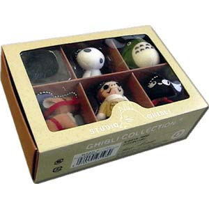 Studio Ghibli Collection Keychain Set of 6 -- (Makkuro Kurosuke)
