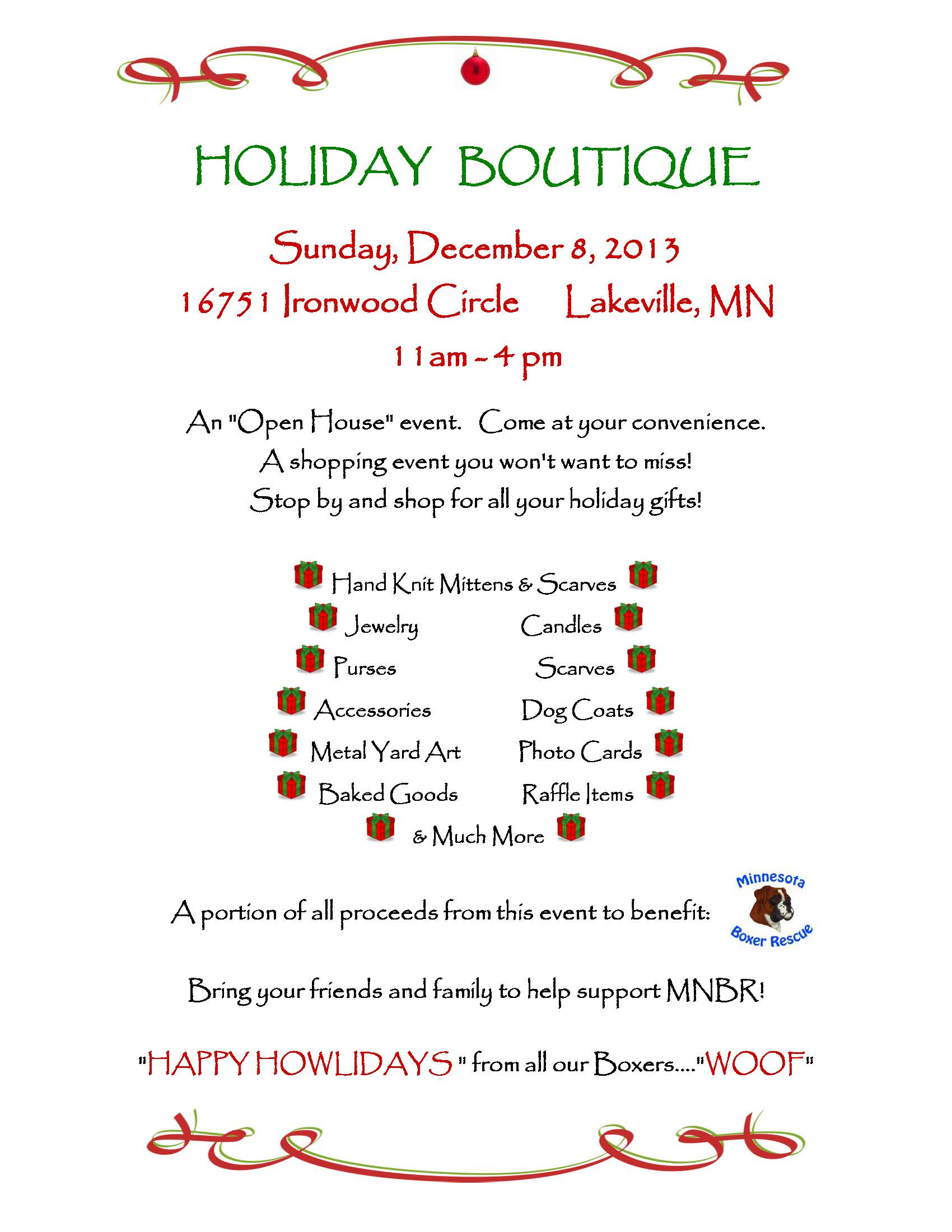 2013 Holiday Boutique